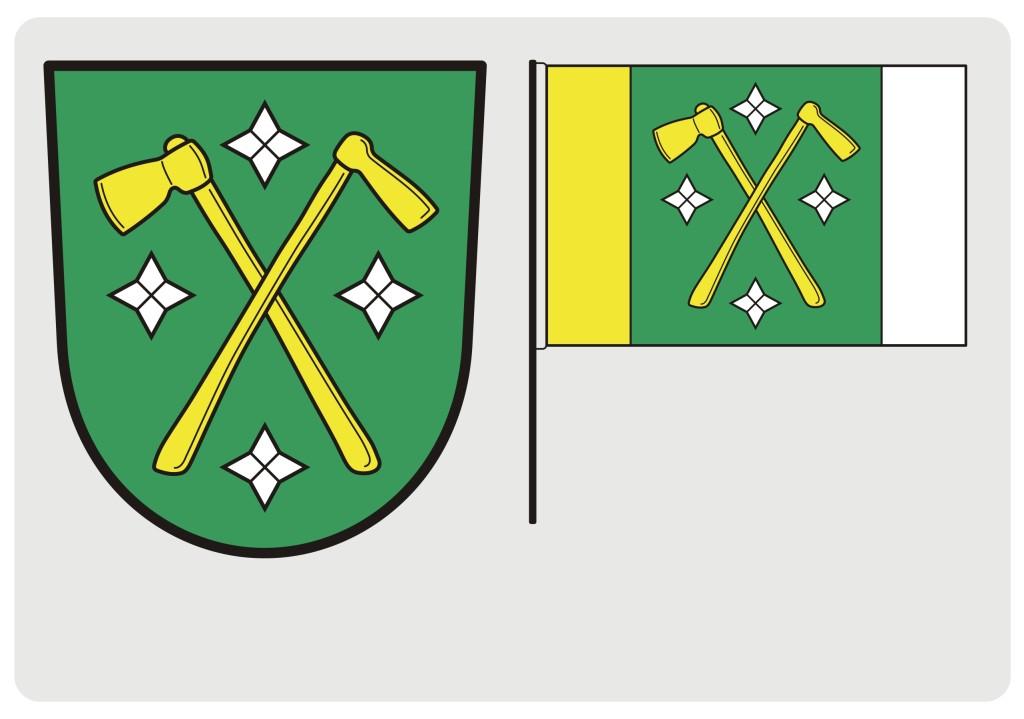 Znak a prapor obce Malá Bystřice