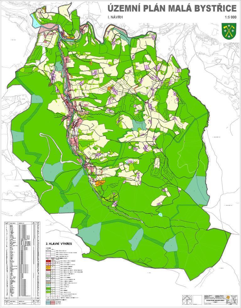 Územní plán Malá Bystřice, hlavní výkres