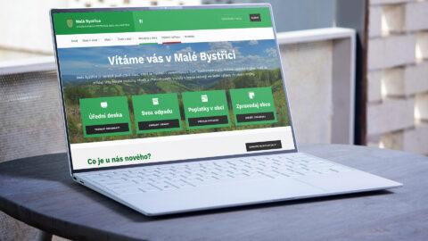 Nový obecní web Malá Bystřice